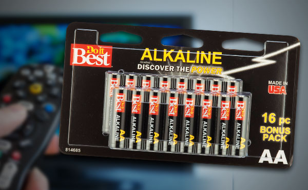 16-Pk. Do it Best AA Alkaline Batteries